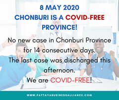 Chonburi Province COVID-19 FREE