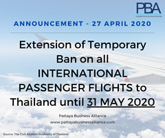 Extension of ban on International flights