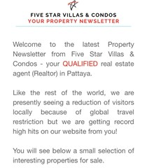Property Newsletter mailed last night