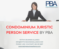 Condominium Juristic Person Services In Pattaya By PBA