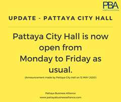 Pattaya City Hall Opening Times