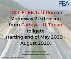 Pattaya to U-Tapao Motorway 7 Extension