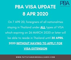 PBA Visa update