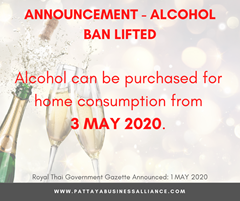 Pattaya Alchohol Ban Lifted